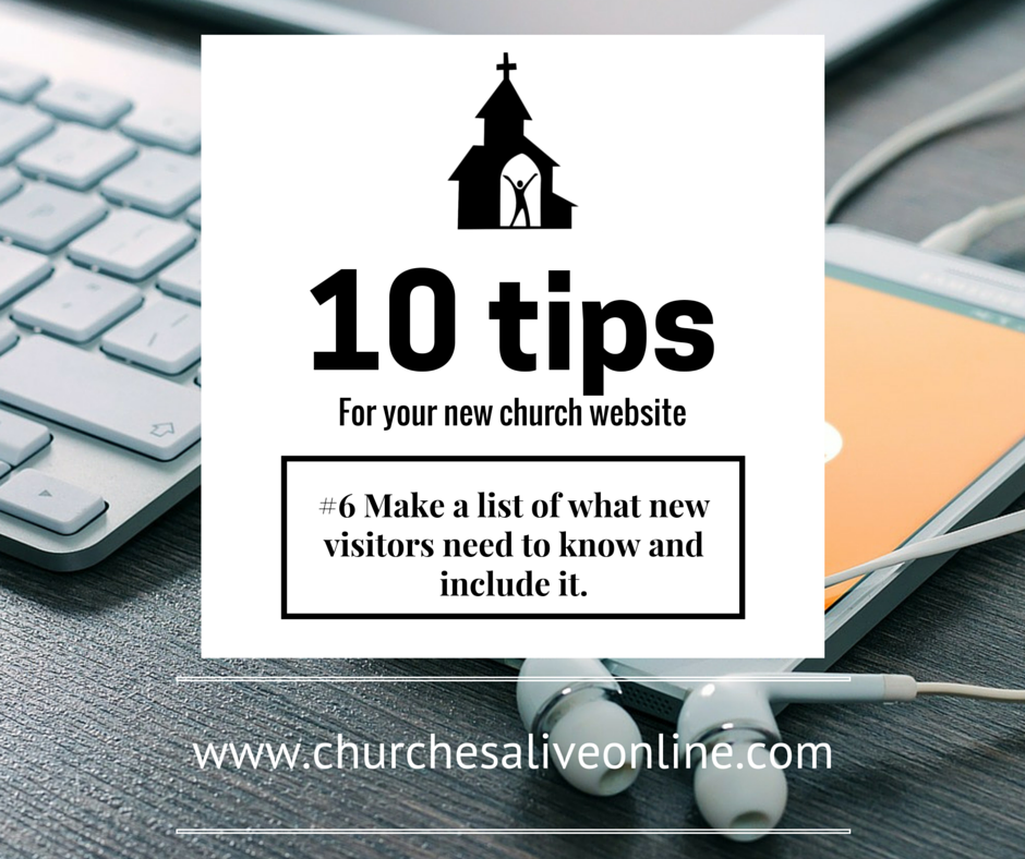 #6 List what new visitors need to know, and include it